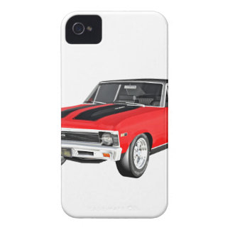 1968 Red Muscle Car iPhone 4 Case-Mate Cases