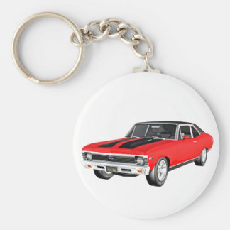 1968 Red Muscle Car Key Ring