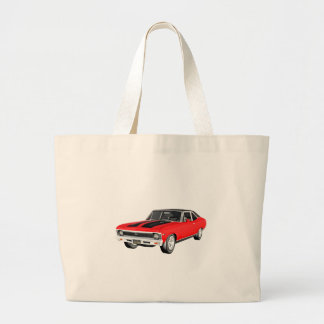 1968 Red Muscle Car Large Tote Bag