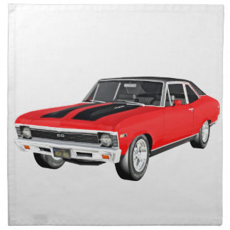 1968 Red Muscle Car Napkin