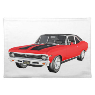 1968 Red Muscle Car Placemat