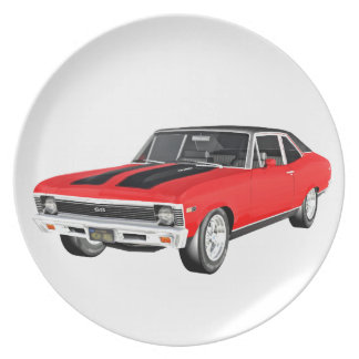 1968 Red Muscle Car Plate