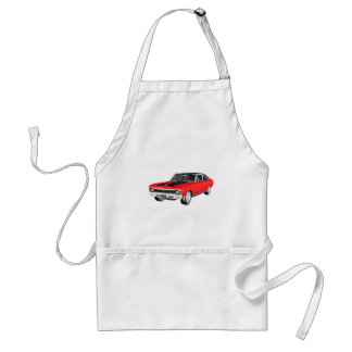 1968 Red Muscle Car Standard Apron