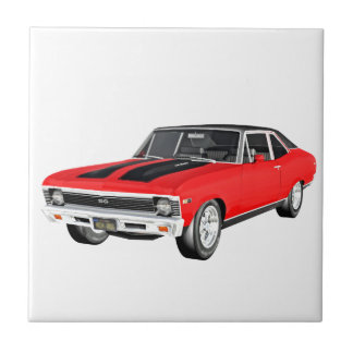 1968 Red Muscle Car Tile