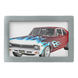 1968 Red White and Blue Muscle Car Belt Buckles