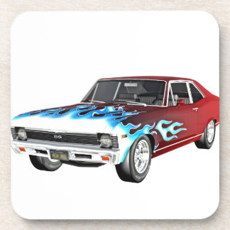 1968 Red White and Blue Muscle Car Coaster