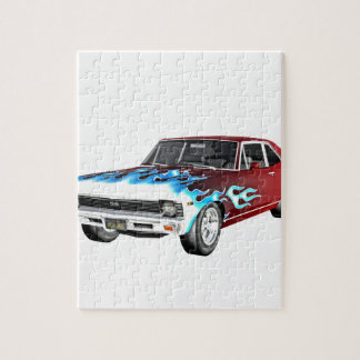 1968 Red White and Blue Muscle Car Jigsaw Puzzle