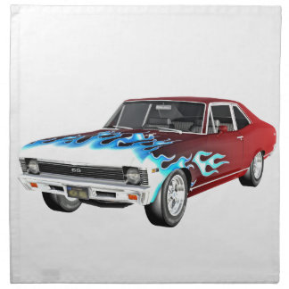 1968 Red White and Blue Muscle Car Napkin
