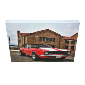 1968 super sport chevy camaro canvas print
