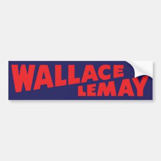 1968 Wallace Lemay Vintage Bumper Sticker