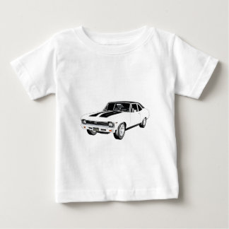 1968 White Muscle Car Baby T-Shirt