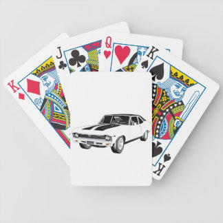 1968 White Muscle Car Bicycle Playing Cards