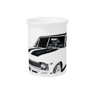 1968 White Muscle Car Pitcher