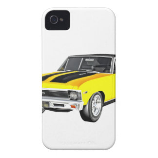 1968 Yellow Muscle Car Case-Mate iPhone 4 Cases