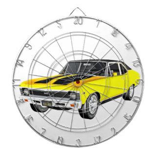 1968 Yellow Muscle Car Dartboard