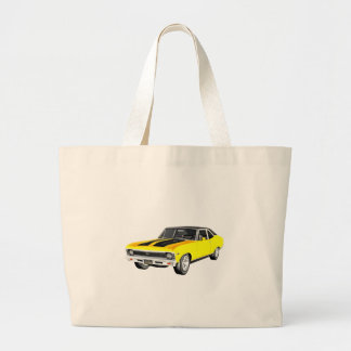 1968 Yellow Muscle Car Large Tote Bag