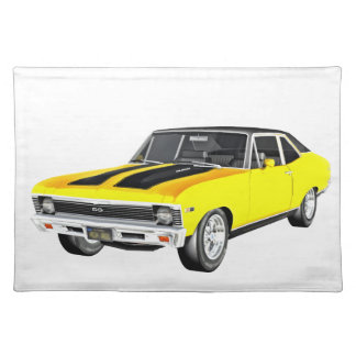 1968 Yellow Muscle Car Placemat