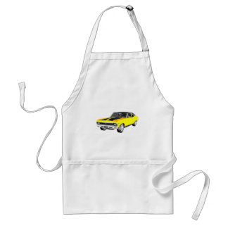 1968 Yellow Muscle Car Standard Apron