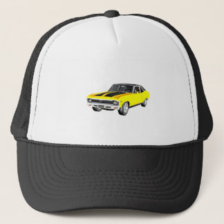 1968 Yellow Muscle Car Trucker Hat