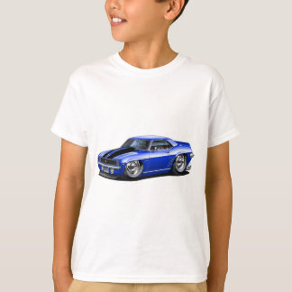 1969 Camaro Blue-Black Car T-Shirt