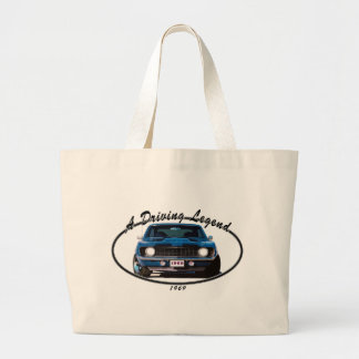 1969_camaro_blue_front large tote bag