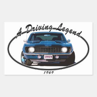 1969_camaro_blue_front rectangular sticker