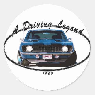 1969_camaro_blue_front round sticker