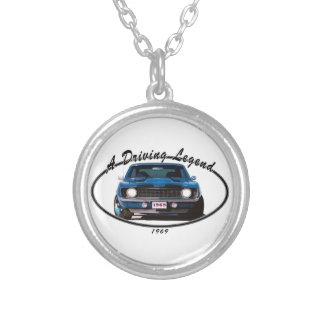 1969_camaro_blue_front silver plated necklace