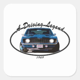 1969_camaro_blue_front square sticker