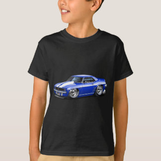 1969 Camaro Blue-White Car T-Shirt