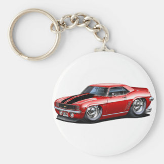 1969 Camaro Red-Black Car Key Ring
