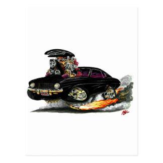 1969 Camaro SS Black Car Postcard