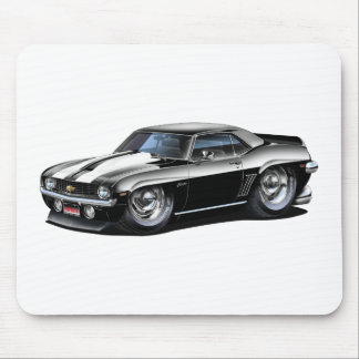1969 Camaro SS Black-White Car Mouse Pad