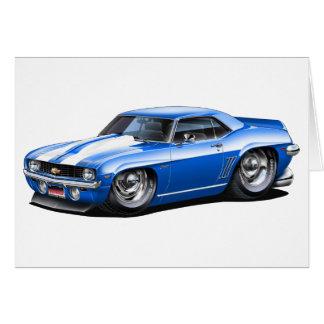 1969 Camaro SS Blue-White Car Card