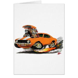 1969 Camaro SS Orange-White Car Card