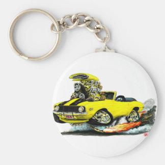1969 Camaro SS Yellow-Black Convertible Key Ring