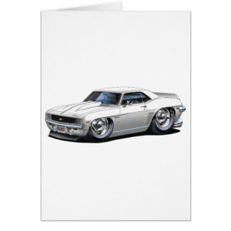 1969 Camaro White Car Card