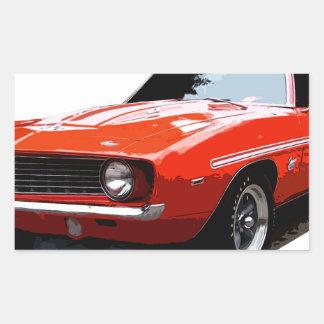 1969_camaro_yenko_orange rectangular sticker