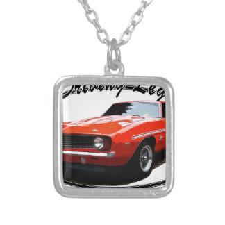 1969_camaro_yenko_orange silver plated necklace