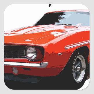1969_camaro_yenko_orange square sticker