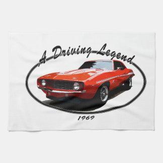 1969_camaro_yenko_orange tea towel