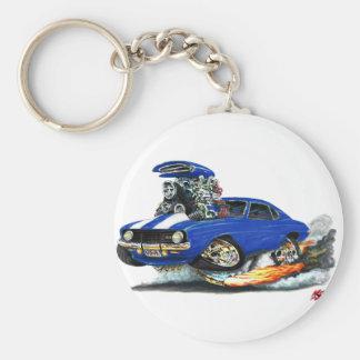 1969 Camaro Z28 Blue-White Car Key Ring