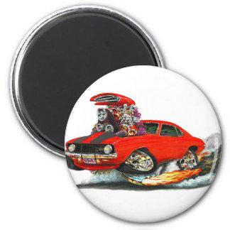1969 Camaro Z28 Red-Black Car 6 Cm Round Magnet