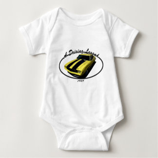 1969_camaro_z28_yellow baby bodysuit