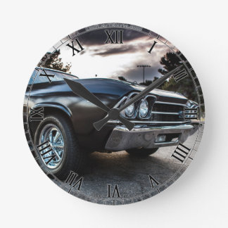 1969 Chevelle Photography Round Clock