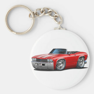 1969 Chevelle Red-White Convertible Key Ring