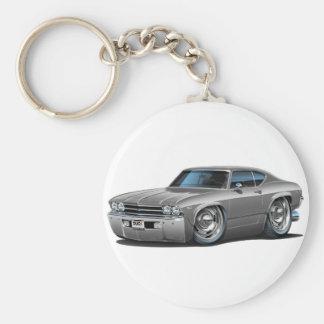 1969 Chevelle Silver Car Key Ring
