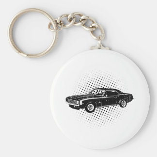 1969 Chevrolet Camaro SS Basic Round Button Key Ring