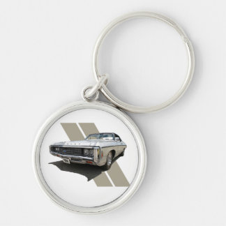 1969 Chevrolet Impala Silver-Colored Round Key Ring