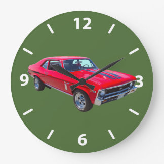 1969 Chevrolet Nova 427 Muscle Car Large Clock